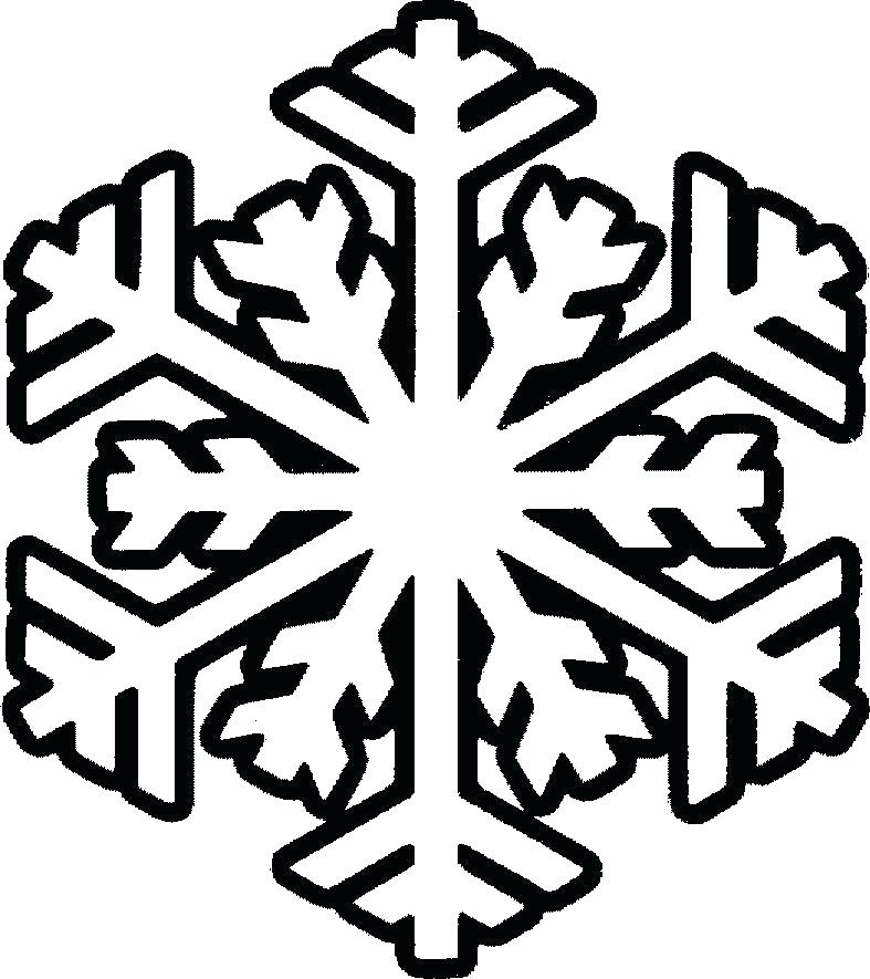 787x885 Snowflake Coloring Pages