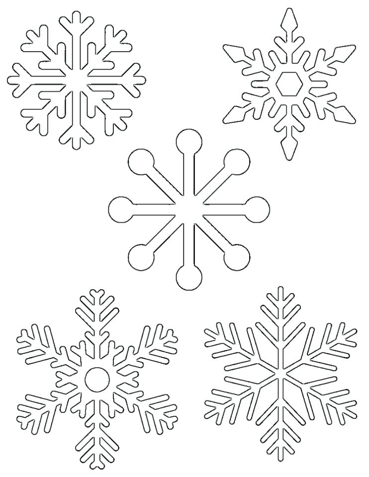 742x960 Snowflakes Coloring Pages