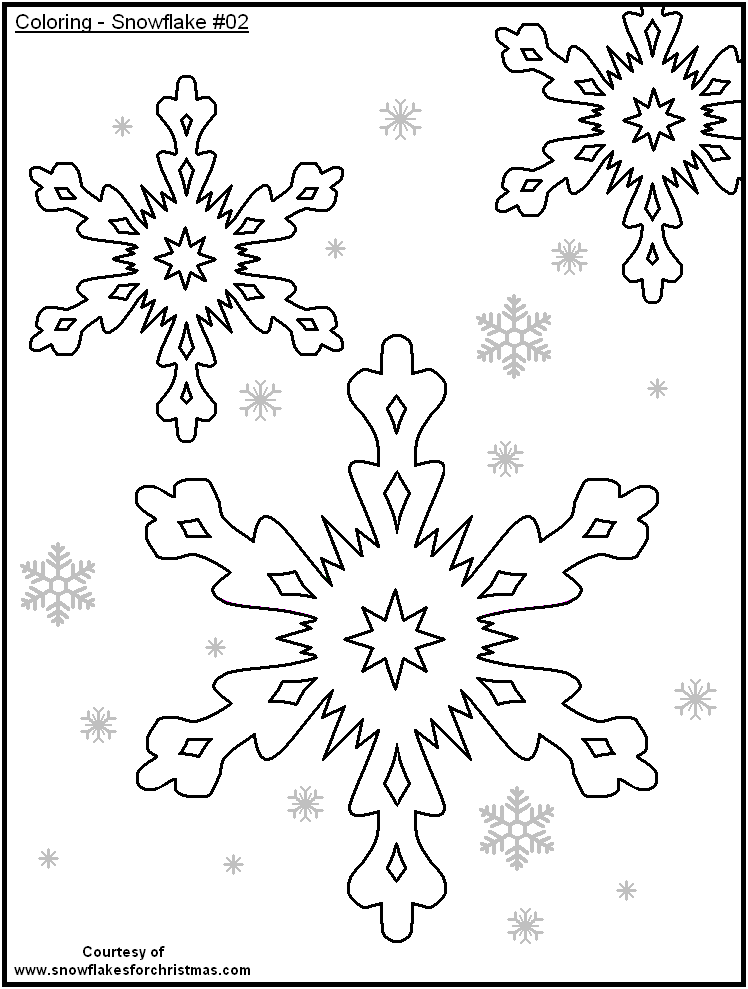 748x989 Free Printable Snow Flakes Coloring Pages