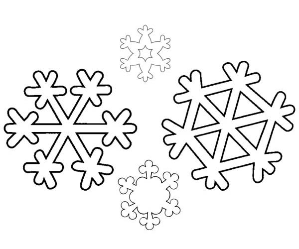 600x500 Free Printable Snowflake Coloring Pages