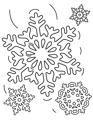 392x507 Free Snowflake Coloring Pages Download