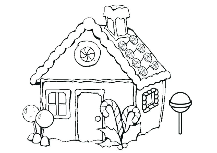 850x600 Printable Snowflake Coloring Pages Gingerbread House Coloring