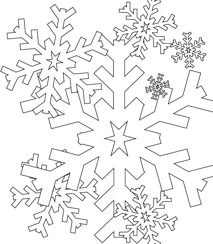 700x800 Printable Snowflake Coloring Pages Snowflakes Coloring Pages