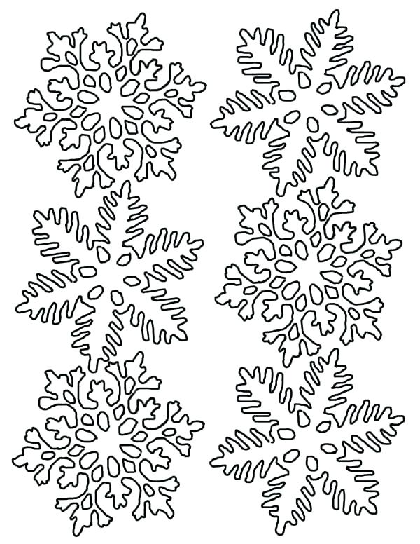 600x776 Printable Snowflake Mandala Coloring Pages Snowflakes Color Page