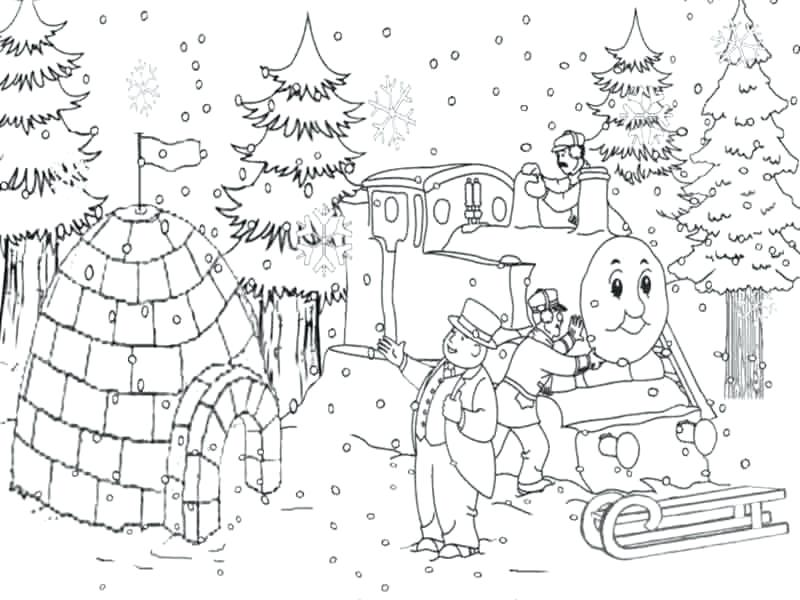 800x600 Snow Coloring Page The Train Coloring Pages Snow Colouring Pages
