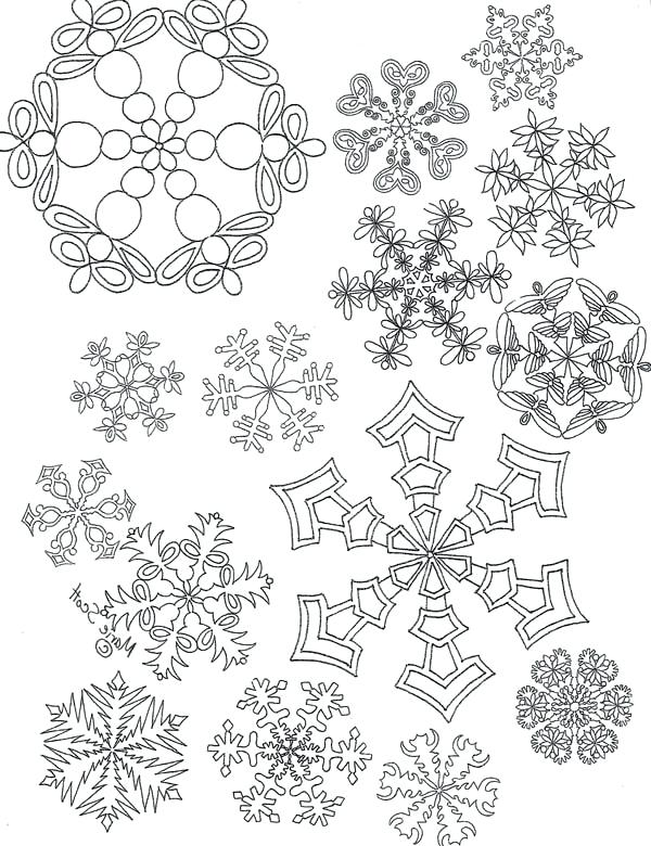 600x780 Snowflake Color Pages All Snowflakes Picture Coloring Page