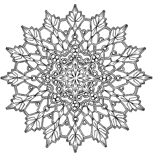 Snowflake Mandala Coloring Pages at GetDrawings.com | Free ...
