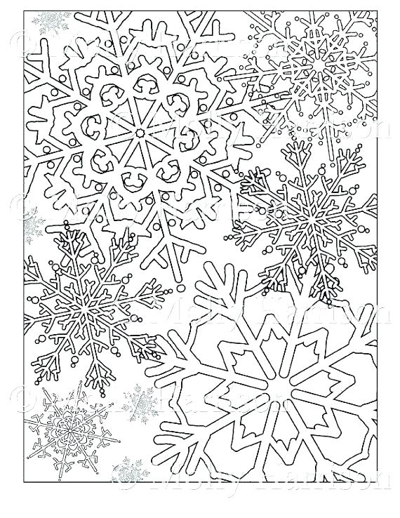 570x738 Snowflakes Coloring Page Coloring Pages Snowflakes Printable
