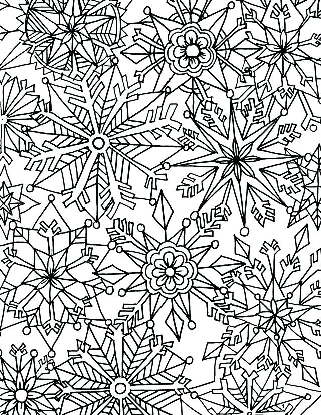 640x828 Snowflakes Coloring Page Free Winter Coloring Page Download