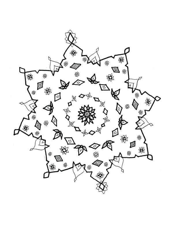 600x777 Snowflakes Coloring Page Snowflakes Drawing Coloring Page