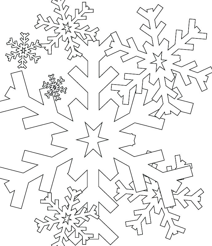 689x800 Snowflakes Coloring Pages Snowflake Color Page Printable Snowflake