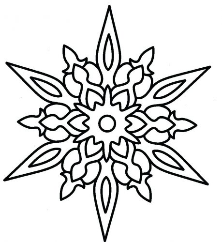 459x500 Coloring Page Snowflakes Coloring Pages Print Printable Wrapping