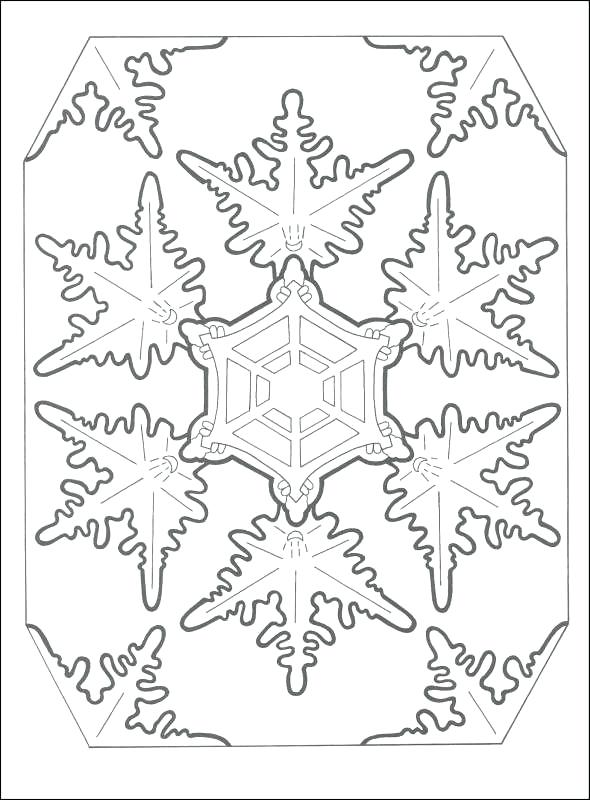 590x800 Snow Flake Coloring Pages