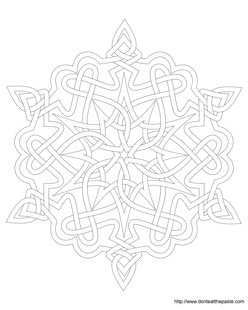 800x1000 Cool Snowflake Mandala Coloring Pages Free Coloring Pages Download