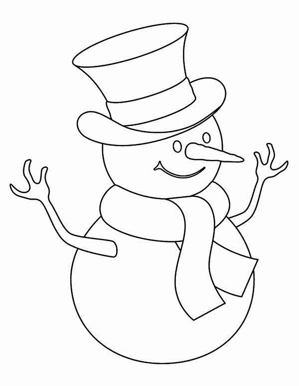 600x775 Kids Drawing Of Snowman Coloring Page Color Luna