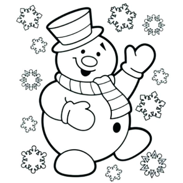 600x600 Snowman Coloring Pages Free Snowman Coloring Pages Free Snowman