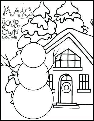 309x400 Snowman Coloring Pages Printable Snowman Coloring Pages Snowman