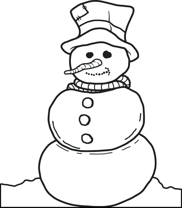 614x700 Snowman Coloring Template Also Free Coloring Pages Of Snowman