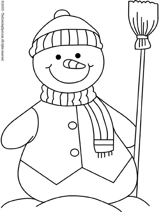 540x720 Snowman Coloring Pages To Print