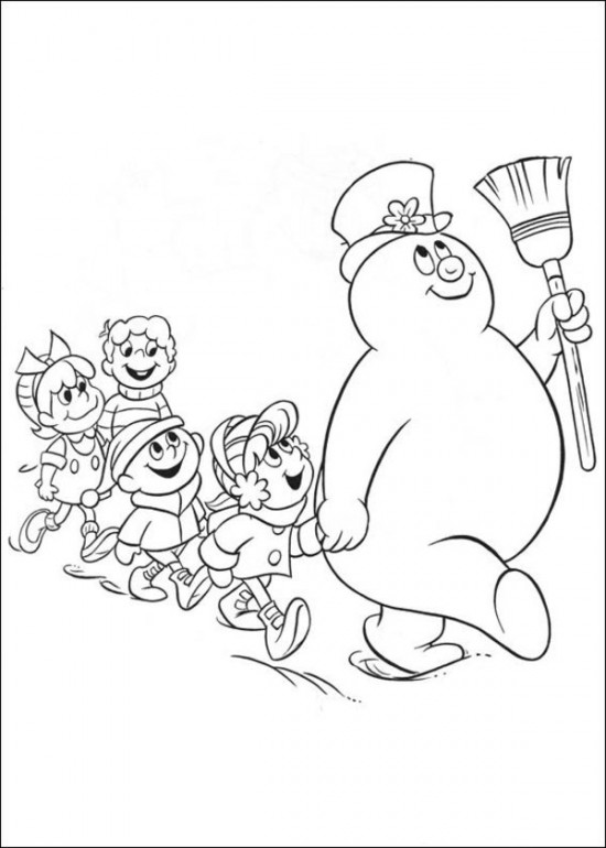 550x770 Free Printable Frosty The Snowman Coloring Pages