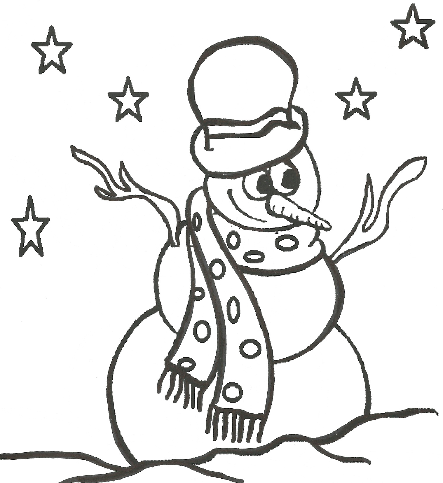 1518x1656 Snowman Coloring Pages
