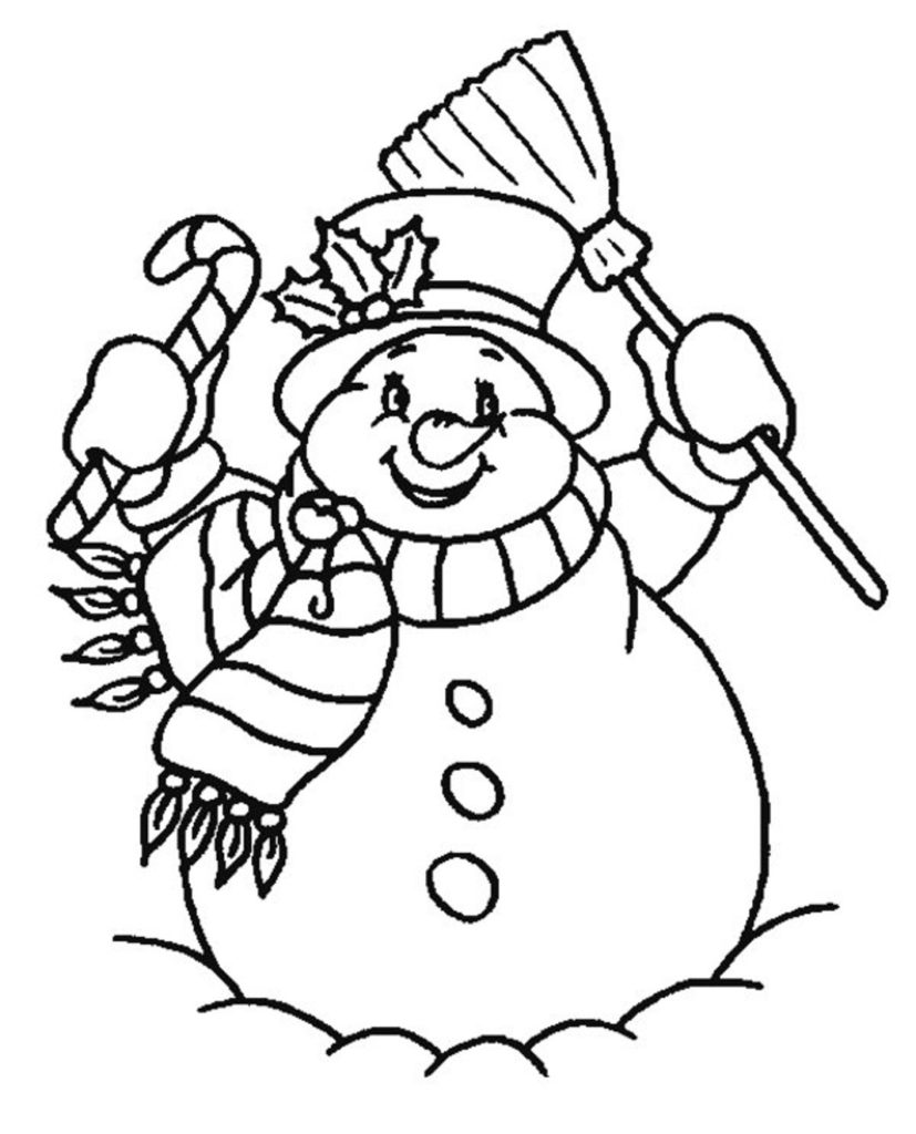 827x1024 Printable Free Snowman Coloring Pages For Kids Winter Coloring