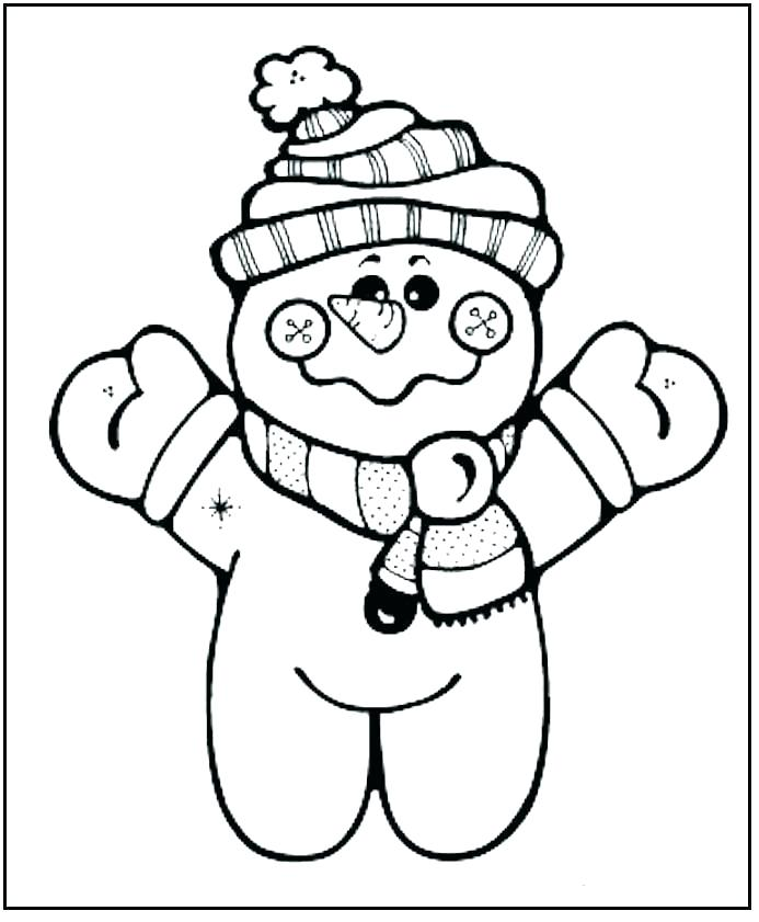 693x841 Printable Snowman Coloring Pages