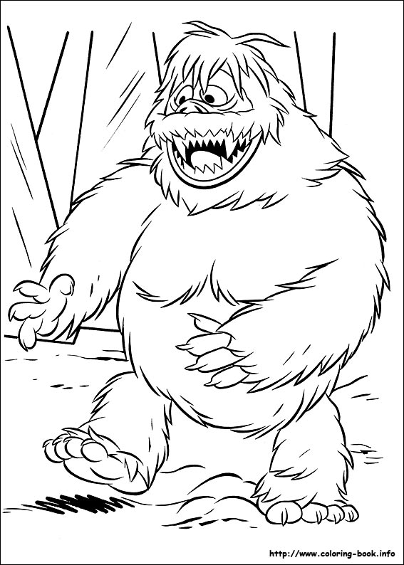 567x794 The Red Nosed Reindeer Coloring Picture