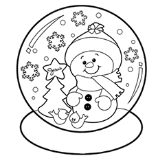 230x230 Cute Snowman Coloring Pages Color Bros