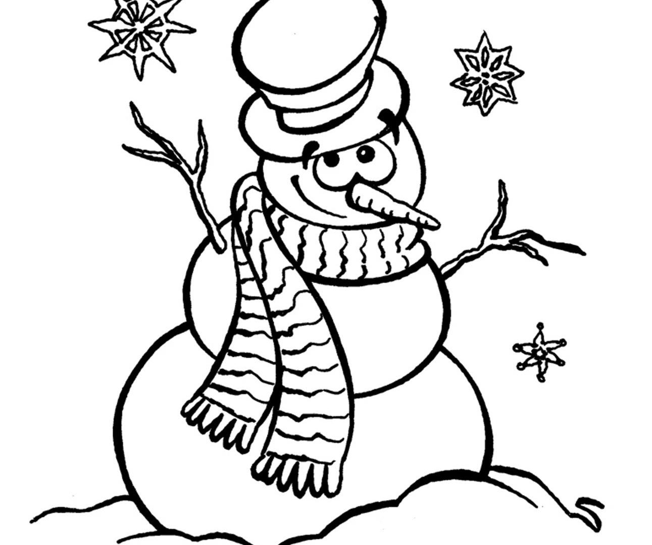 picture regarding Snowman Coloring Pages Printable identified as Snowman Coloring Webpages For Kindergarten at