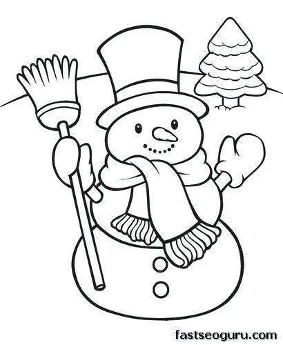 410x500 Snowman Coloring Pages Snowman Coloring Pages To Print Humorous