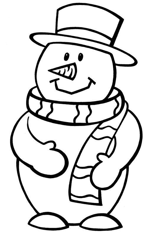 Snowman Coloring Pages Free Printable at GetDrawings.com ...