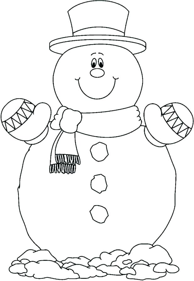 618x893 Snowman Coloring Pages Fre Nice Free Printable Snowman Coloring