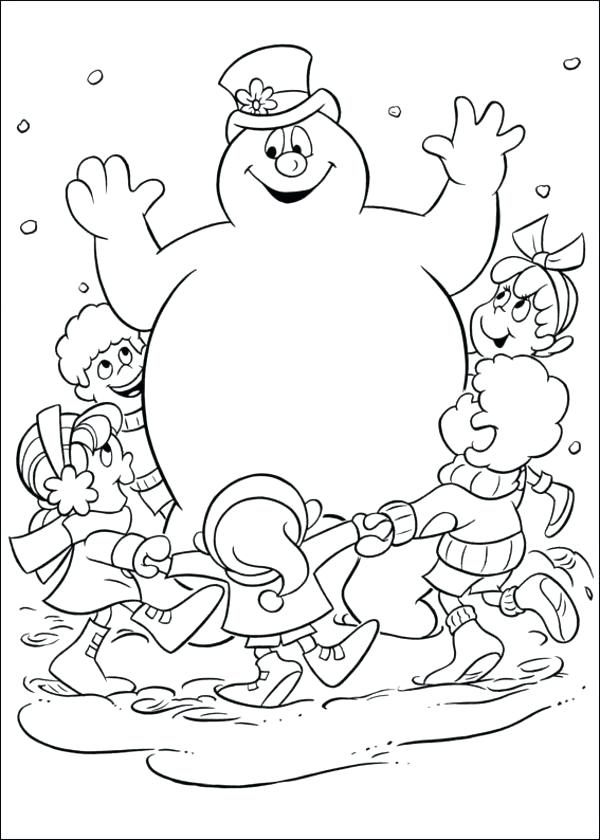 600x840 Snowman Coloring Pages Free Printable Frosty The Snowman Coloring