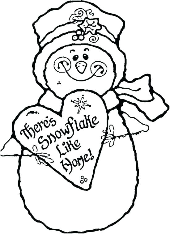 550x757 Printable Snowman Coloring Pages
