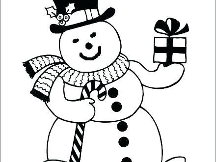 440x330 Snowman Coloring Pages