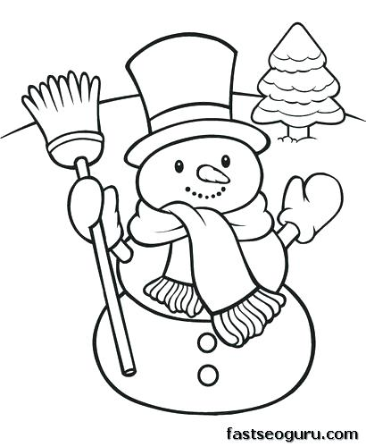 410x500 Christmas Snowman Coloring Pages Snowman Coloring Pages Free Plus