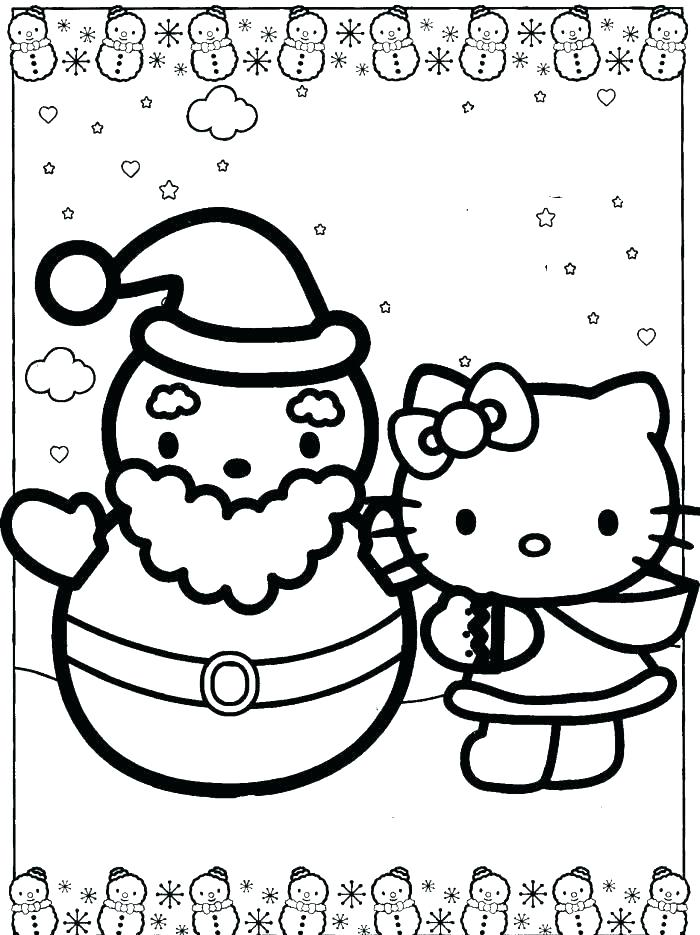 700x935 Free Coloring Pages Hello Kitty Snowman Coloring Pages Free Free
