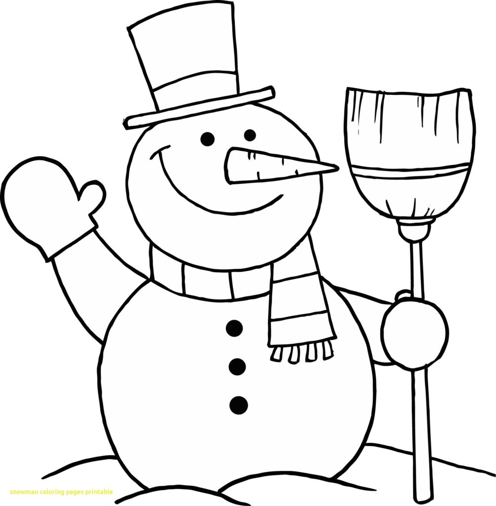 1003x1024 Snowman Coloring Page Elegant Pages Printable