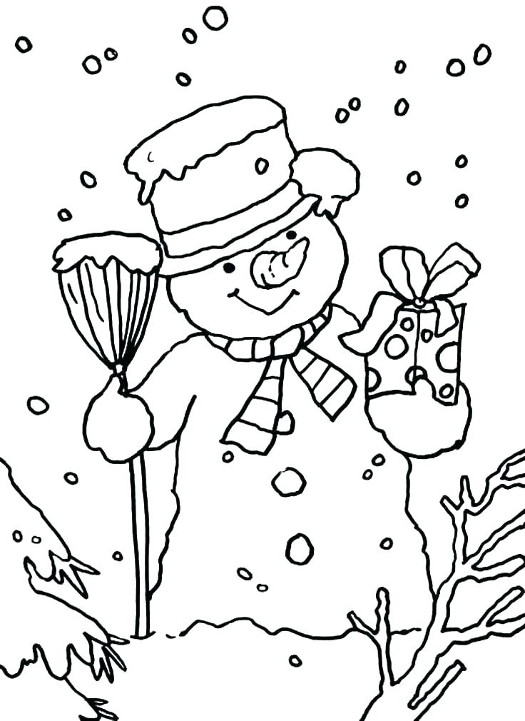 736x1010 Snowman Printable Coloring Pages Snowman Coloring Craft Also