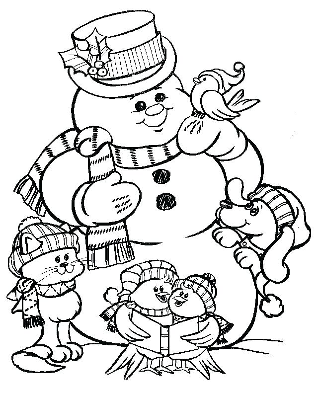 640x791 Winter Coloring Pages To Print Easy Winter Snowman Coloring Pages