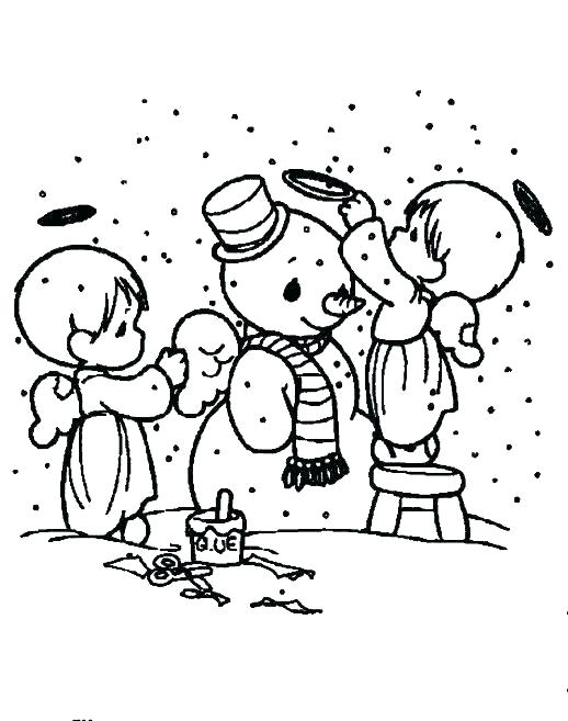 518x657 Coloring Pages Of Snowmen