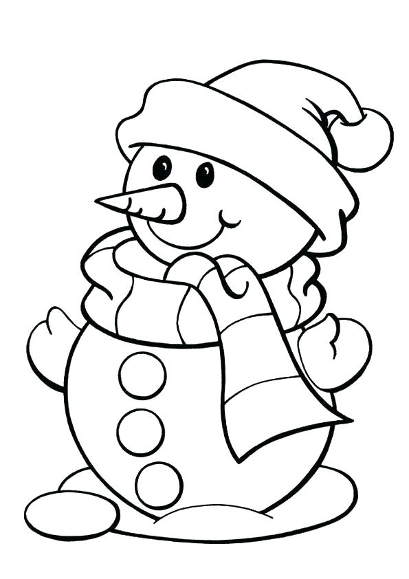 595x842 Printable Snowman Coloring Pages