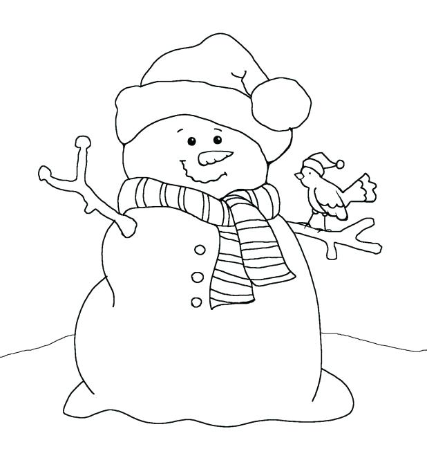 Snowman Face Coloring Page At Getdrawings Com