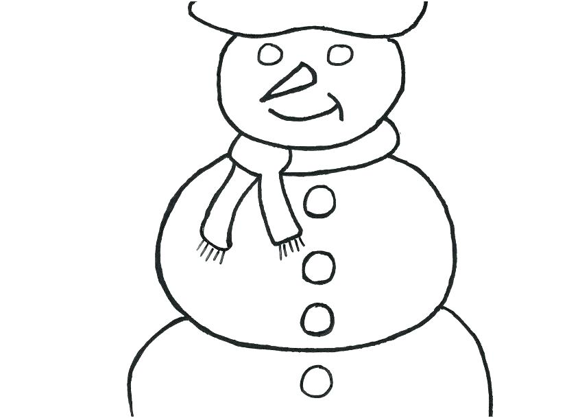 827x609 Template Template Snowman Coloring Pages Face Template Snowman