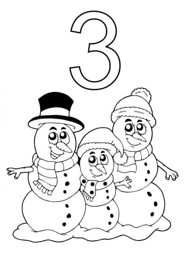 Snowmen At Night Coloring Pages