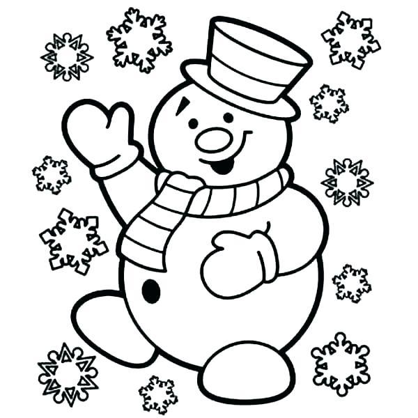 600x600 Snowman Coloring Pages Snowman Coloring Pages Snowman Snowman