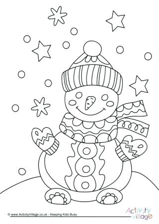 320x452 Snowmen At Night Coloring Pages As Well As Snowman Colouring Page