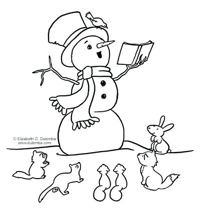 400x421 Snowmen At Night Coloring Pages Plus