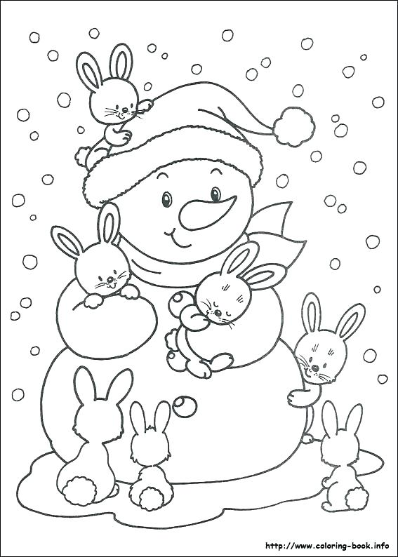 567x794 Frosty The Snowman Coloring Pages